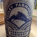 Bottled in a large wine bottle, the Ashley Farmhouse would make a good session beer.