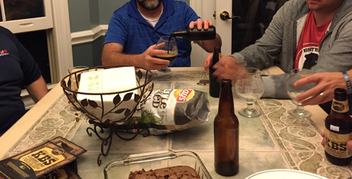A guys' night with homebrewing masters is worth making a regular occasion.
