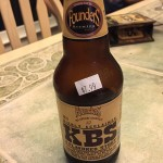 Hard to get, KBS is Founder's Breakfast Stout aged in bourbon barrels. Eddie had new and aged versions. Aged was far superior.